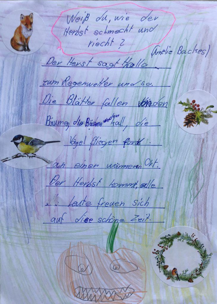Herbst kurz gedicht Kurzes Gedicht